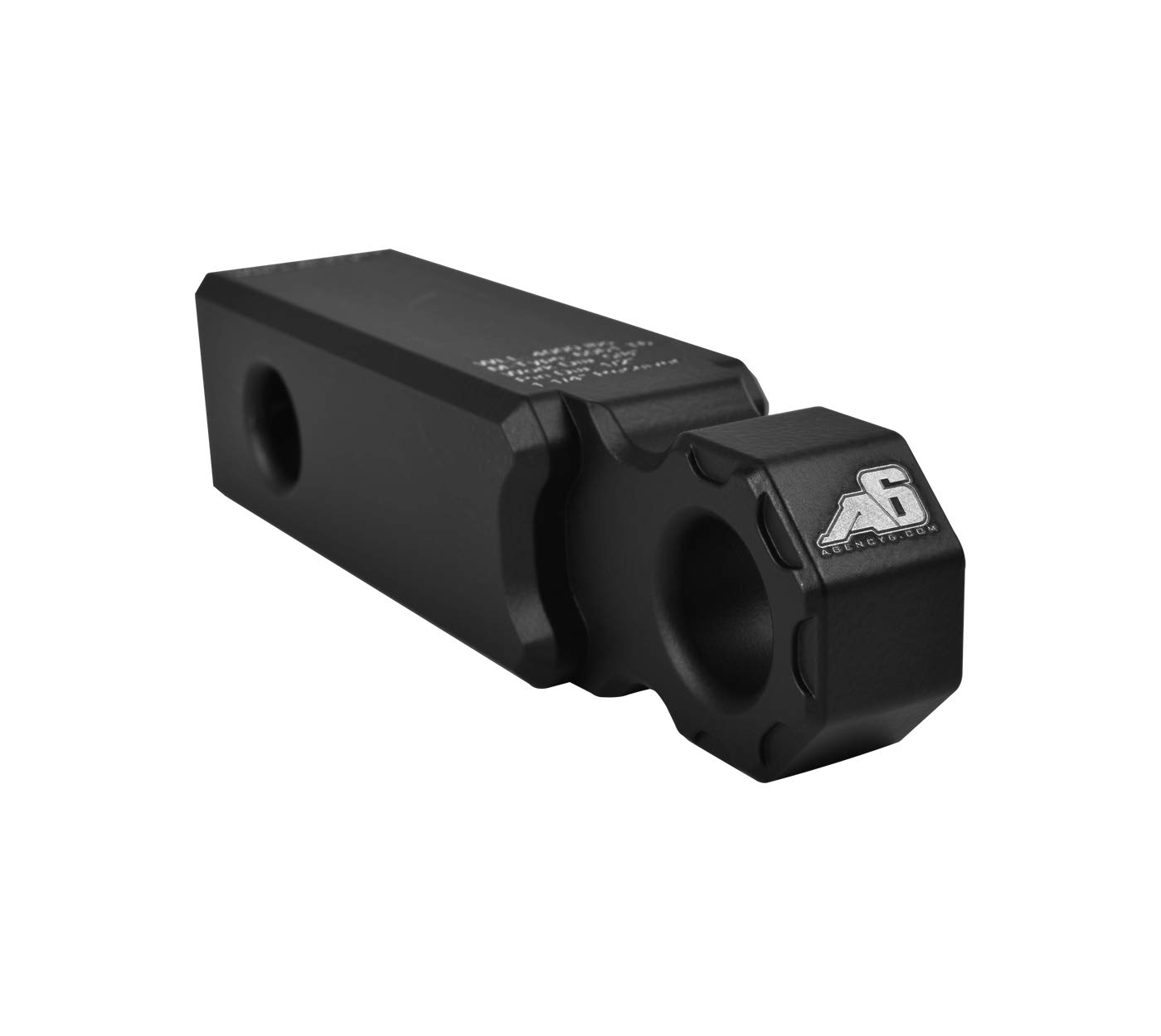 Agency 6 Recovery Shackle Block 1.25' Black Powder Coat - Hitch Receiver Fits 1.25 inch Hitch receivers HitchLink Recovery Tow Block - Proudly Made in The USA with US Certified Materials Agency 6 Inc
