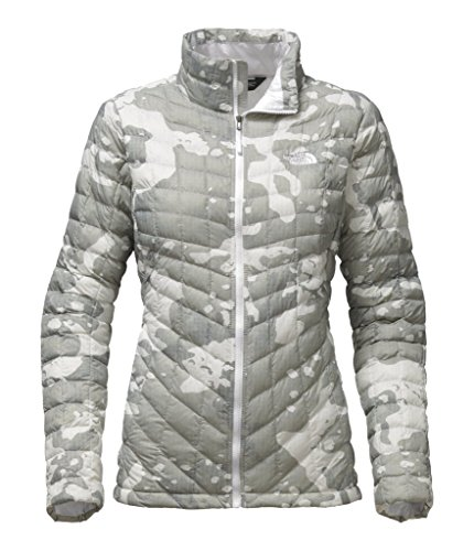 d72561c97 The North Face Women's Thermoball Full Zip Jacket - TNF White Woodchip  Print - L (Past Season)