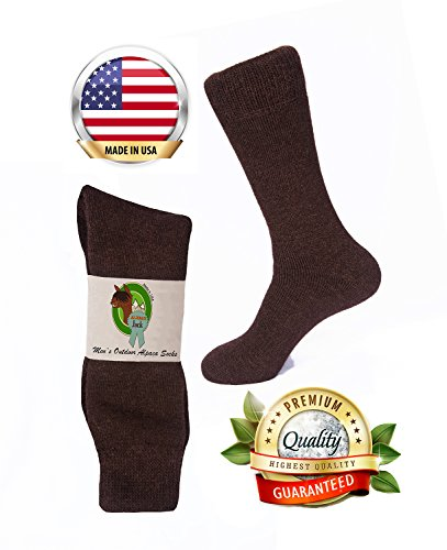 Alpaca Socks - AlpacaJack Mens Outdoor Alpaca Socks One Size Brown
