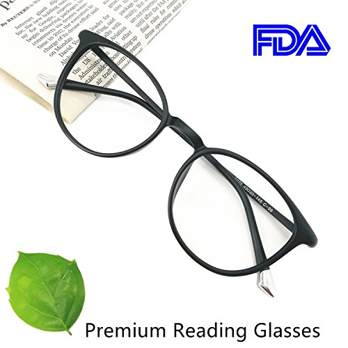 Reading Glasses 0.25 Black , Round Glasses, Eyeglasses Frames for Women, Light Weight Glasses