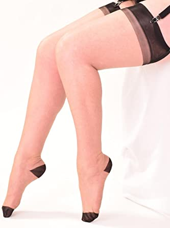 b1f6b65582b4b What Katie Did Stockings RHT Full Contrast: Amazon.co.uk: Clothing