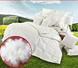 unite down Luxury Excellent White Goose Down Comforter/Duvet/Quilt For Winter, Organic Cotton 800tc, White Cal King