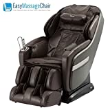 Titan OS-Pro Summit L-Track Foot Roller Space Saving Massage Chair Brown
