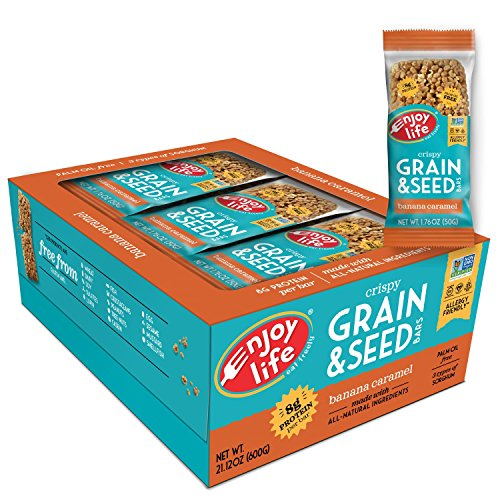 Enjoy Life Grain & Seed Bars, Soy free, Nut free, Gluten free, Dairy free, Non GMO, Vegan, Banana Caramel, 1.76 Ounce Bars (Pack of 12)