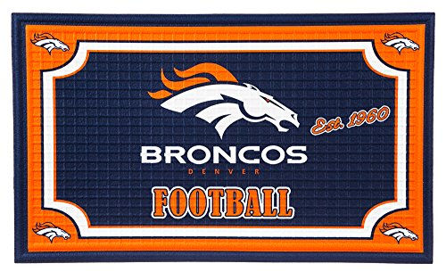 Team Sports America 41EM3809 Denver Broncos Embossed Door (Denver Broncos Rug)
