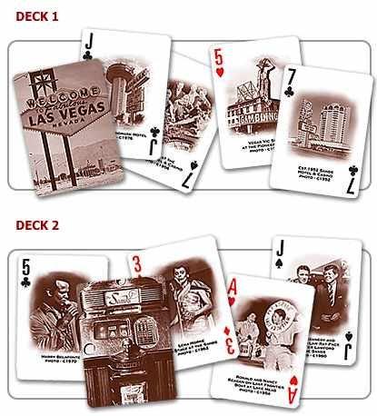 Las Vegas History 2 Decks of Playing Cards Boxed Set