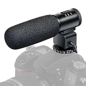 camera microphone besteker camcorder mic professional stereo recording. Black Bedroom Furniture Sets. Home Design Ideas