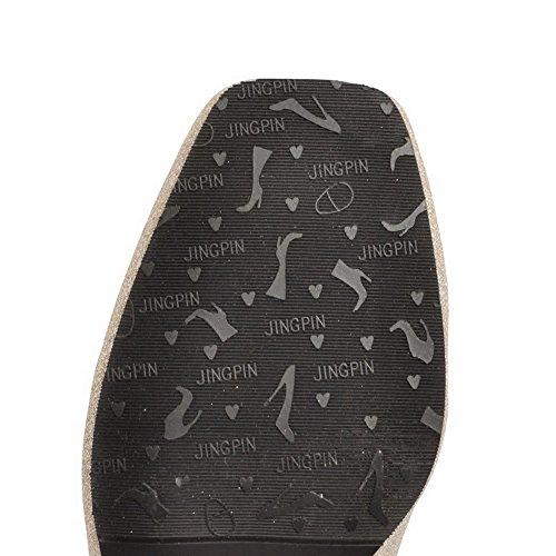 Correct Chaussures Légeres À Tissu Aalardom Femme Talon Paillette Tire Doré BxfRPpAqwI