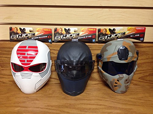 Snake And Shadow Costumes Storm Eyes (SET of 3 ~ GI Joe Retaliation 2011 Movie Costume Mask Storm Shadow Snake Eyes Special)