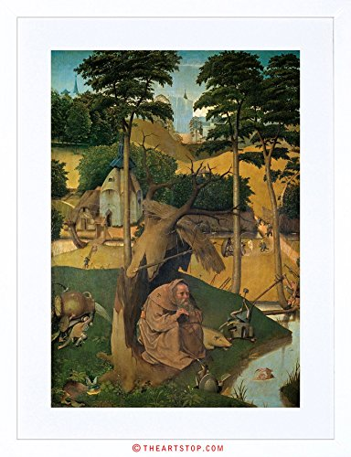 The Art Stop Painting Bosch Temptation of ST Anthony Framed Print F97X3633