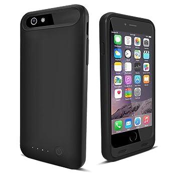 iFans Carcasa de batería para iPhone 6 [Certificado por Apple MFi] con batería incorporada de 3100mAh para iPhone 6 / 6s / 7 - Negro