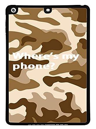 Amazon com: Comedy Desert Camo Black iPad Air Silicone Case