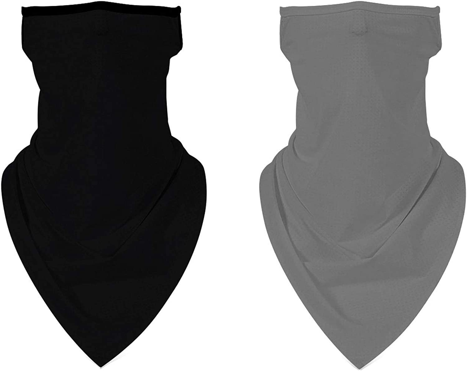 Feximzl 2 Pack Face Cover Bandana Ear Loops Men Women Neck Gaiters for Dust Wind Motorcycle Cool Lightweight