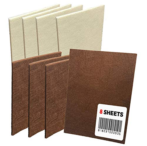 Mighty X Large Felt Furniture Pads Protectors by iPrimio - Pack 8 Pcs, Place Under Furniture Legs, Feet, Dining Table, Couches, Vases. Protect Hardwood Floors. Protect (4 Pc Brown / 4 Pc Beige)
