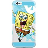 [Ashley Cases] TPU Clear Skin Cover Case for Apple iPhone 5/5S - Sponge Bob Skyblue