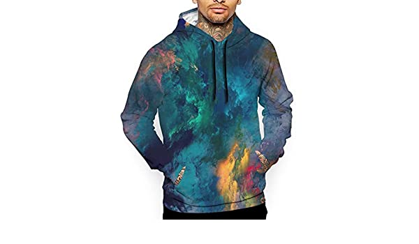 World Map T-Shirt Hooded with A Pocket Rope Hat Customization Fashion Novelty 3D Mens
