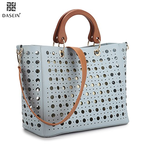 dasein-2-in-1-hollow-out-wooden-handle-tote-w-inner-sequin-pouch-removable-shoulder-strap