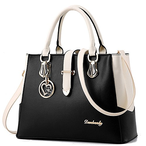 BestoU Handbags for Ladies, PU Leather Crossbody Ladies Handbags Shoulder Bags For Women, Work Black