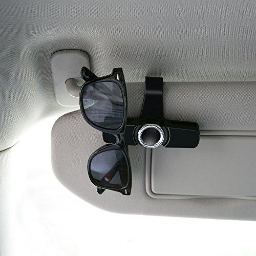 hot sale clip porte lunette luxebell support lunettes double clip sur pare soleil de la. Black Bedroom Furniture Sets. Home Design Ideas