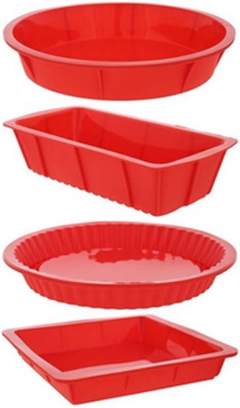 Fanaticism Juego de moldes de silicona; diseño cuadrado, rectangular y redondo