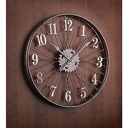 Bike Rim Wall Clock - Large 24 Diameter Bicycle Wheel