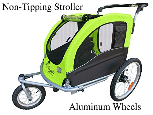 Large Pet Dog Stroller and Bike Bicycle Trailer with Susp...