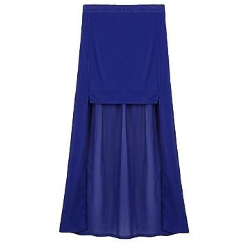Mujeres répartis a cola de pato en muselina de seda falda, azul ...