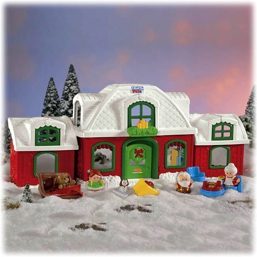 Little People Fisher Price Santa Claus North Pole Christmas Cottage ()