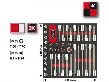 VIGOR Schraubendreher-Einsatz TORX® V2167 T40 Innenvierkant V2167
