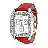 Bling Jewelry Square Deco Style Red Leather Strap Review and Comparison