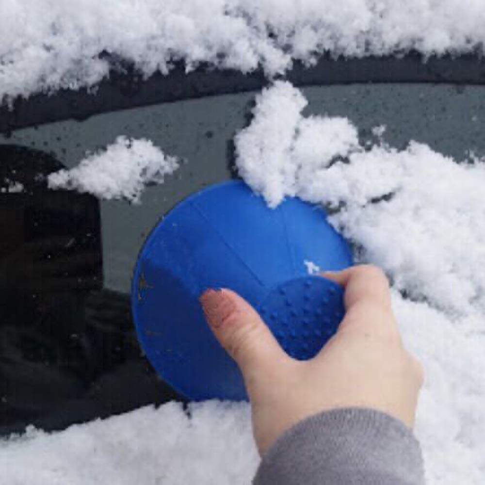 Snowboard Defroster Motorcycle With Snow Brush Blue Cone-Shaped Car Windshield Snow Removal Window Cleaning Tool Sherineo Windshield Ice Scraper