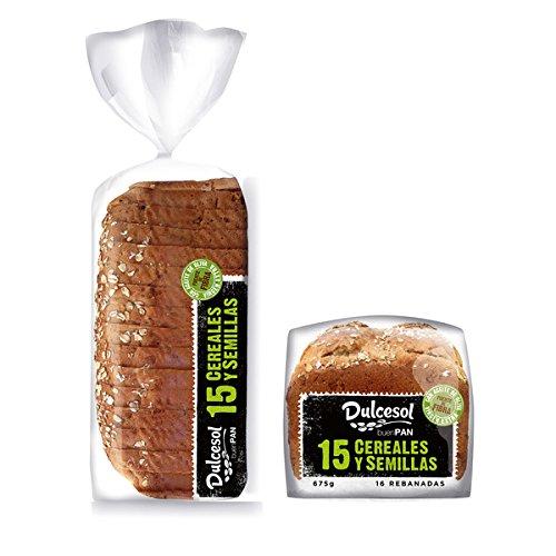 DULCESOL - Pan de molde 15 cereales y semillas - 675 gramos: Amazon.es: Alimentación y bebidas