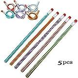 5pcs Colorful Magic Flexible Bendy Soft Pencil