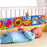 GDOOL Animal Puzzle Toys Baby Pram Carriage Crib Stroller Cloth Books Crib Bumper Crinkle , Perfect for Babies Early Development Learning & Education Toys for Newborn Infants Toddlers Children Kids