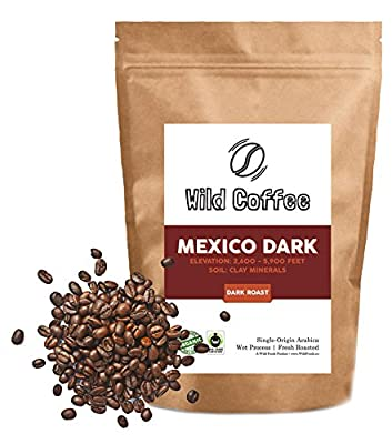 Wild Coffee, Whole Bean Organic Coffee, Fair Trade, Single-Origin, 100% Arabica, Austin Fresh Roasted
