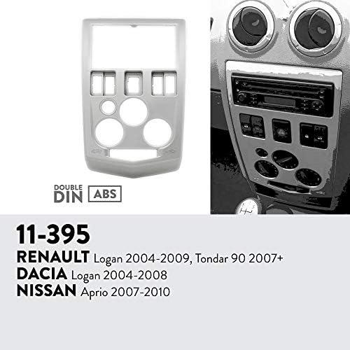 UGAR 11-688 Trim Fascia Car Radio Installation Mounting Kit for Renault Koleos 2008-2016