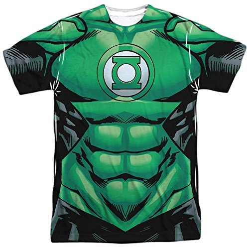 Green Lantern- Uniform Costume Tee T-Shirt Size XL - Green Lantern Costume John Stewart