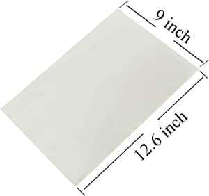 CLL 50 Count Edible Rectangle Rice and Wafer Paper,9x12.6 inches for Candy Packaging or Food Decoration
