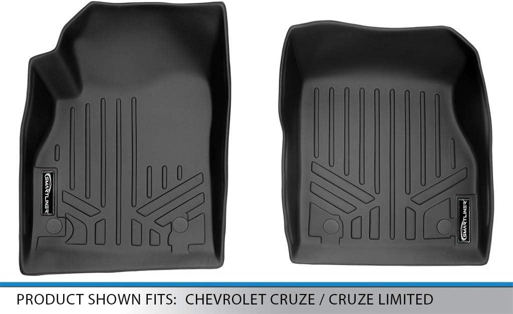 2016 Cruze Limited SMARTLINER Custom Fit Floor Mats 1st Row Liner Set Black for 2011-2015 Chevrolet Cruze