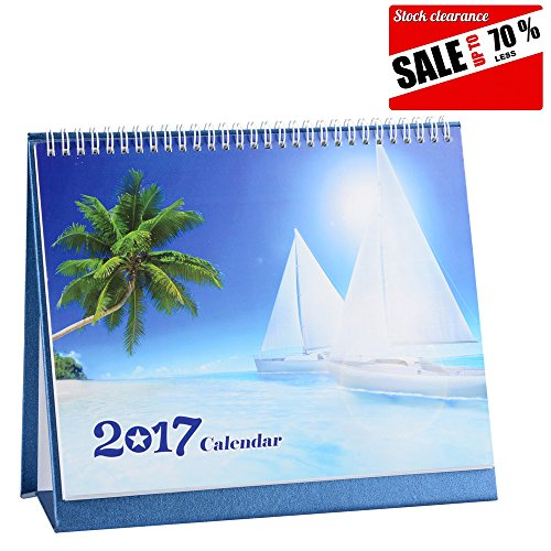 Monthly Desk Pad Calendar 2017,10 Inches