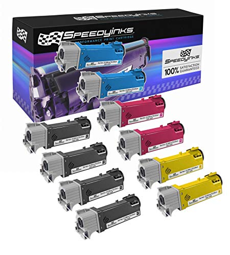 (Speedy Inks Compatible Toner Cartridge Replacement for Dell 2130cn High-Yield (4 Black, 2 Cyan, 2 Magenta, 2 Yellow, 10-Pack))