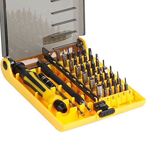Sprite Science8482; 45 in 1 Professional Portable Opening Tool Compact Screwdriver Kit Set with Tweezers & Extension Shaft for Precise Repair or Maintenance