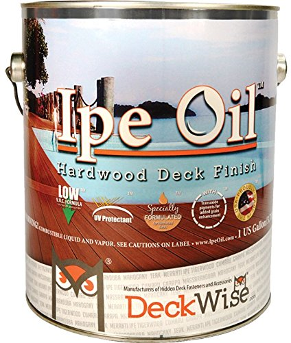 Oil Based Deck (DeckWise Ipe Oil Hardwood Deck Finish, UV Resistant, 1 Gallon Can)