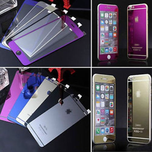 Silver Color Mirror Front+back Tempered Glass Screen Protec Skin, Iphone - Mirror Color
