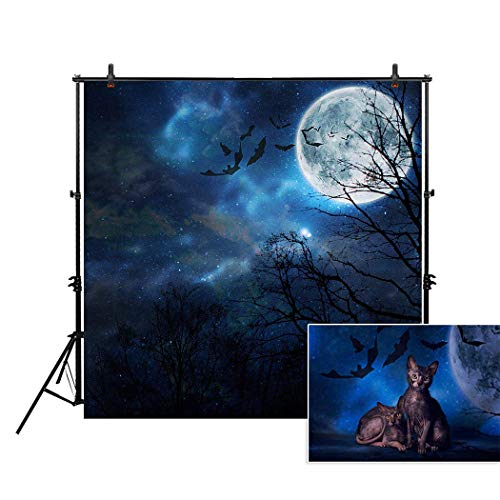 Allenjoy 5x5ft Photography Backdrop Background Scary Hallowe