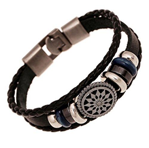 OrliverHL Women Bracelet Woven Braided Handmade Wrap Cuff