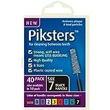 PIKSTERS Interdental Brush - Size 7 Black 1.1mm 40 Brushes Per Pack X 10 (400Pcs)