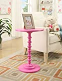 Convenience Concepts Palm Beach Spindle Table, Pink