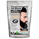 1 Pack of Jet Black Henna Beard Dye for Men - 100% Natural & Chemical Free Dye for Hair, Beard & Mustache - The Henna Guys ( 2 Step Process)