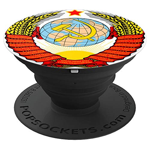 Soviet Union Emblem - PopSockets Grip and Stand for Phones and Tablets -
